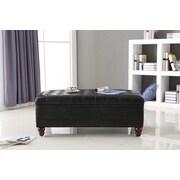 NOYA USA Classic Storage Bedroom Bench; Black
