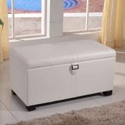 NOYA USA Classic Storage Bedroom Bench; White