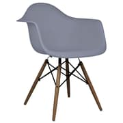 eModern Decor Scandinavian Arm Chair; Dark Gray