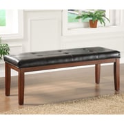 Kingstown Home Wingston Faux Leather Bedroom Bench