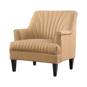 Home Loft Concepts Cliffe Channel Back Club Chair; Camel