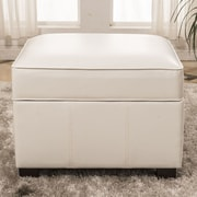 Bellasario Collection Elegant Storage Ottoman; White