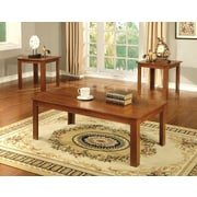Hokku Designs Kaldi 3 Piece Coffee Table Set; Light Oak