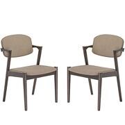 Modway Spunk Dining Arm Chair (Set of 2); Latte