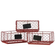 Urban Trends Metal Rectangle Wire Basket (Set of 3)