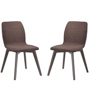 Modway Proclaim Dining Side Chair (Set of 2); Mocha