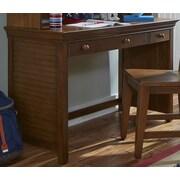 My Home Furnishings Neopolitan 3 Drawer Writing Desk; Driftwood Grey