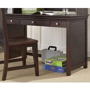 My Home Furnishings Neopolitan 3 Drawer Writing Desk; Merlot