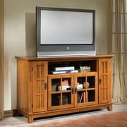 Woodhaven Hill Owen TV Stand; Cottage Oak