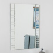 Decor Wonderland Beveled Wall Mirror; Clear