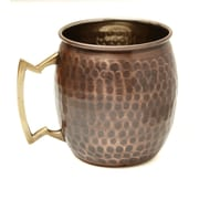 Old Dutch Hammered 16 Oz. Moscow Mule Mug (Set of 4); Antique Hammered Solid Copper