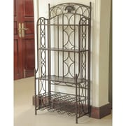 International Caravan Charleston 5-Tier Iron Indoor/Outdoor Bakers Rack; Matte Brown