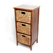 Heather Ann 3 Drawer Cabinet; Brown