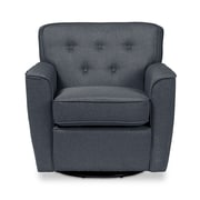 Wholesale Interiors Baxton Studio Retro Upholstered Lounge Chair; Gray