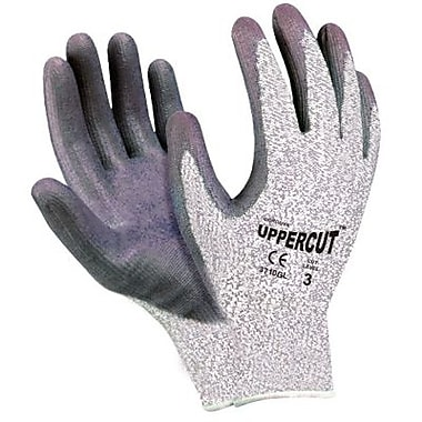 Cordova 3710GL Uppercut Resistant Shell with Polyurethane Palm Coating, Grey, Large, 6 Pairs/Pack