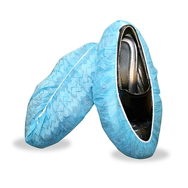 Blue Polypropylene Non-Skid Shoe Covers, Extra Large, 400/Pack
