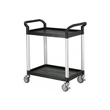 Modulab® Two Shelf Laboratory Cart, Black and Silver