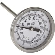 """Bi-Metal Thermometers, IA270, 0 to 250 degrees F/-20 to 120 degrees C, 6"""" stem, 5/Pack"""
