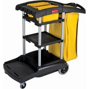 High Capacity Cleaning Carts w/Bins