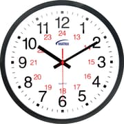12/24 H Battery Operated Wall Clocks, 5/Pack
