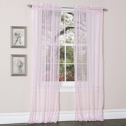 Lush Decor Lola Window Curtain Panels (Set of 2); Pink