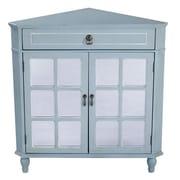 Heather Ann 1 Drawer 2 Door Chest; Blue