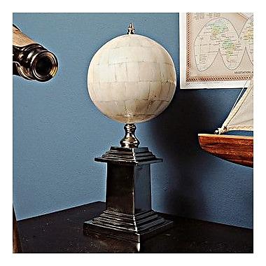 Old Modern Handicrafts Bone Globe w/ Alluminum Base