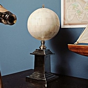 Old Modern Handicrafts Bone Globe with Alluminum Base