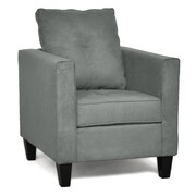 Piedmont Furniture Jessica Arm Chair; Bulldozer Graphite