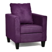 Piedmont Furniture Jessica Arm Chair; Bulldozer Eggplant