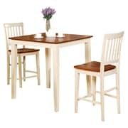 Wooden Importers Vernon 3 Piece Counter Height Dining Set; Buttermilk / Cherry