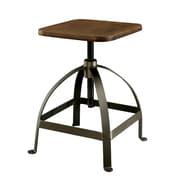 Hokku Designs Mylene Adjustable Height Swivel Bar Stool; Oak