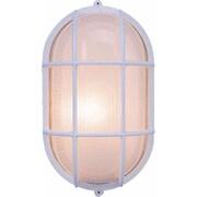 Volume Lighting 1 Light Outdoor Wall Mounted Light Fixture; White