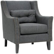 Wholesale Interiors Albany Lounge Chair in Gray