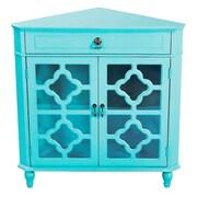 Heather Ann 1 Drawer 2 Door Chest; Turquoise