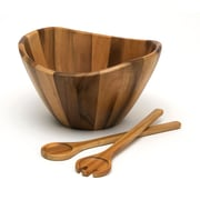 Lipper Acacia Large Wave Bowl with Servers