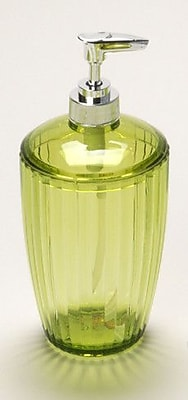 Carnation Home Fashions Acrylic Ribbed Lotion Dispenser; Palm Green WYF078276239971