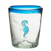 Global Amici Marina Seahorse Double Old Fashioned Glass (Set of 4)