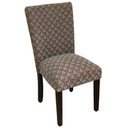 HomePop Kinfine Classic Upholstered Parsons Chair; Blue Chocolate
