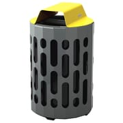 Frost 42-Gal Stingray Waste Receptacle; Yellow