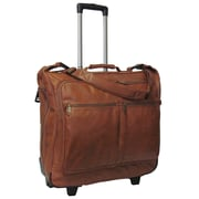 AmeriLeather Rolling Garment Bag; Brown