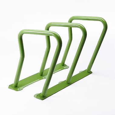 Frost 6 Bike Freestanding Bike Rack; Green