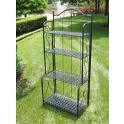International Caravan Mandalay 4 Tier Indoor/Outdoor Bakers Rack; Antique Black