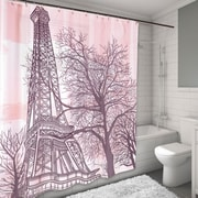 Carnation Home Fashions Tour Eiffel Shower Curtain