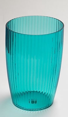 Carnation Home Fashions Acrylic Ribbed Waste Basket; Cerulean Blue WYF078276376329