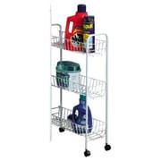 Household Essentials Slimline 3 Shelf Laundry Cart; White