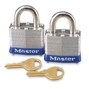 Master Lock Master Lock High Security Padlocks, Silver, 2 per Pack