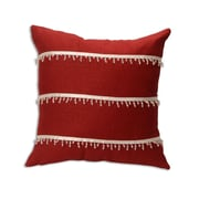Brite Ideas Living Circa Solid Lava with 3 Rows of Clear Beaded Trim Throw Pillow