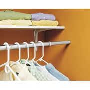 Lido Designs Extend and Lock Adjustable Closet Rod; Satin (Brushed) Stainless Steel