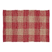 VHC Brands Breckenridge Red/Tan Area Rug; 2'3'' x 4'